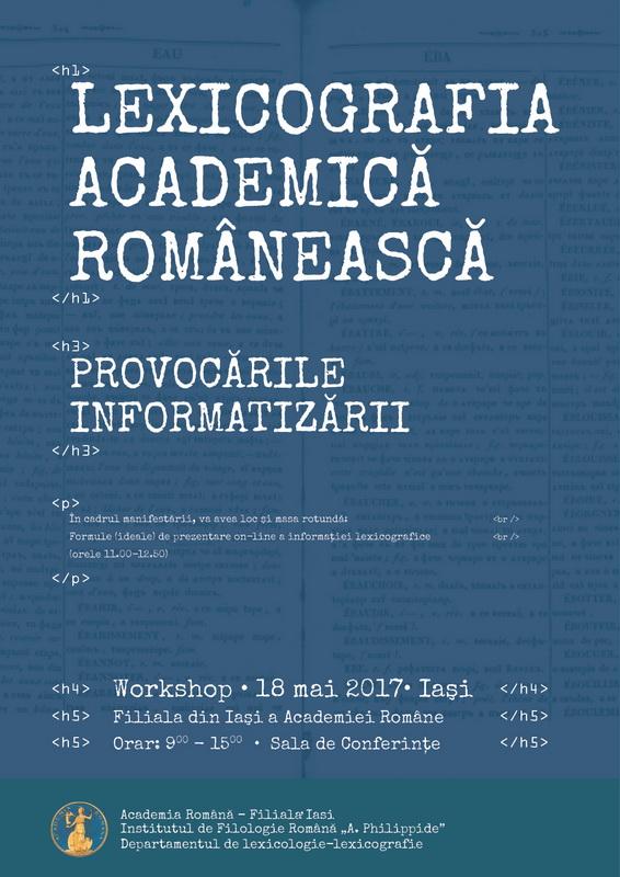 Afis Conferință Lexicografie