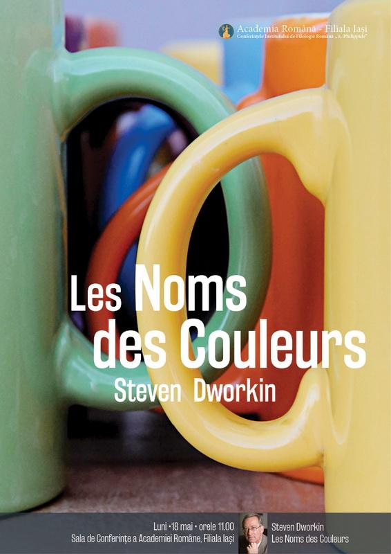 Afis conferință Steven Dworkin