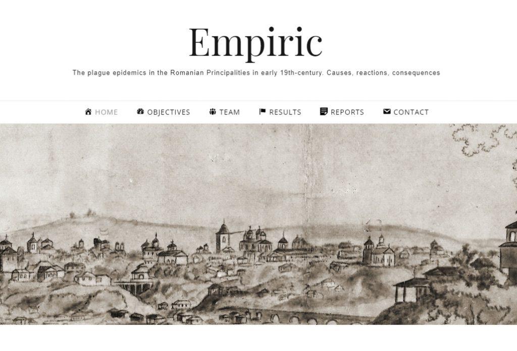 Screenshot site empiric.acadiasi.ro